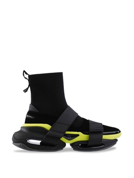 B-Bold Knit and Suede High Top Sneaker Black