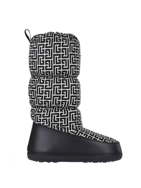 X ROSSIGNOL AFTER SKI MONOGRAM BOOT IVORY AND BLACK