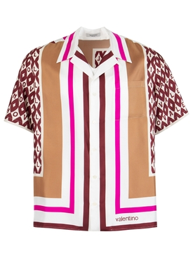 Foulard Short Sleeve Silk Camp Shirt