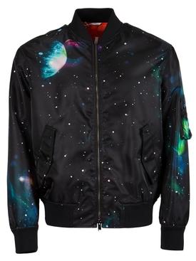 Galaxy Bomber Jacket Black