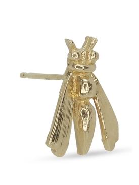 18K Yellow Gold Wasp Single Earring