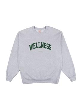 Wellness Ivy Crewneck Sweatshirt Ash Grey/Green Print