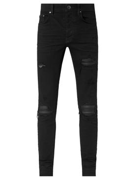 Distressed MX1 Slim Fit Jean Black