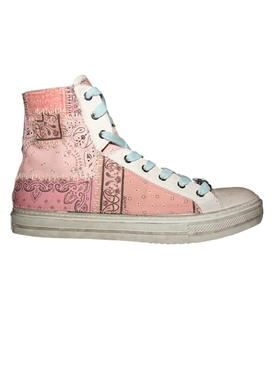 Amiri - High Top Sunset Bandana Sneakers Salmon - Men