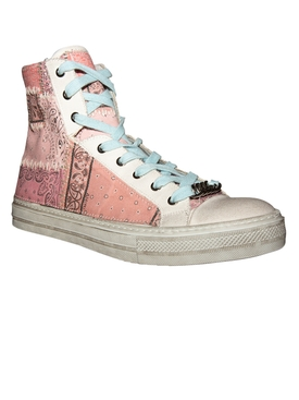 High Top Sunset Bandana Sneakers SALMON