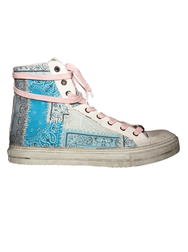 High Top Sunset Bandana Sneakers LIGHT BLUE