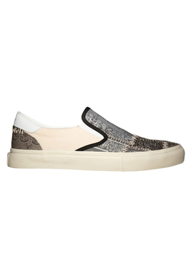 Reconstructed Bandana Slip-On Sneakers BLACK