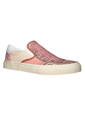 Reconstructed Bandana Slip-On Sneakers CORAL
