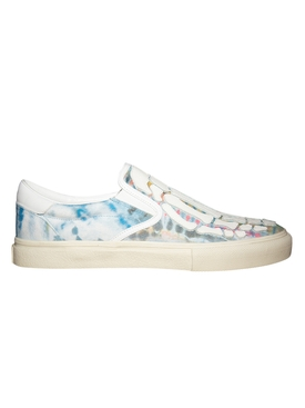 Green Tie-dye Skel Toe Slip-On Sneakers
