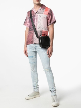 Slim-fit distressed painter jeans