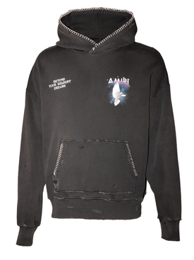Amiri - Oversize Eternal Dove Hoodie Washed Black - Men