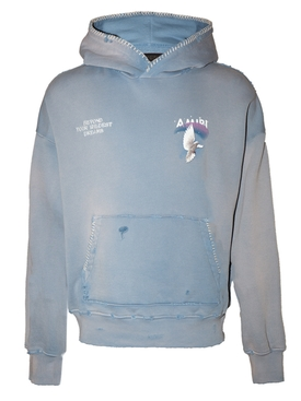 Oversize Eternal Dove Hoodie WASHED COBALT