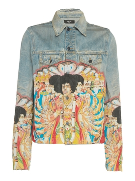 Jimi Hendrix Printed Denim Jacket