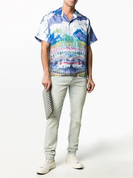 Multicolored Tie-Dye Bowling Shirt