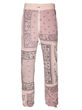 Reconstructed Bandana Jogger Pants CORAL