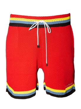 Crochet Basketball Shorts RED