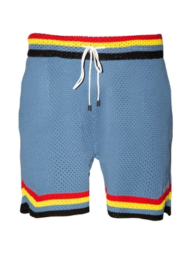 Crochet Basketball Shorts LIGHT BLUE