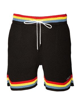 Crochet Basketball Shorts BLACK