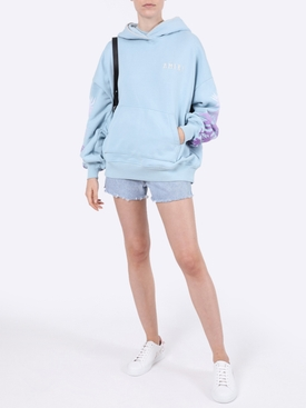 Oversized Eternal Happiness Hoodie LIGHT BLUE