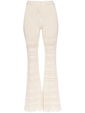 Crochet flare pants IVORY