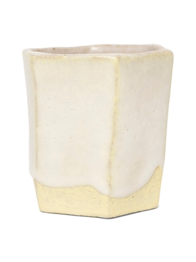Raw Ground Clay Glass Yellow