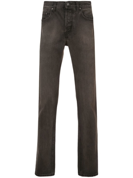Five-Pocket Denim Jeans BLACK/BROWN