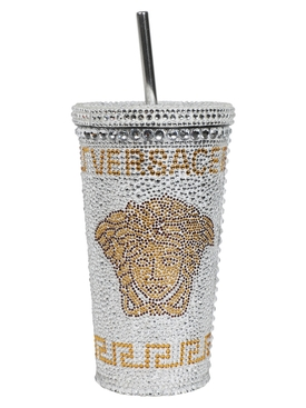 MEDUSA STUDDED TRAVEL CUP WHITE GOLD