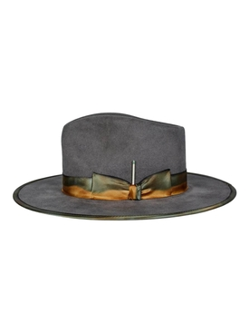 Granite Medianoche wide-brim fedora hat