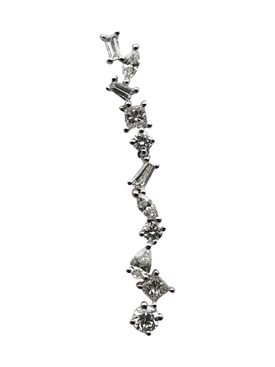 Cascade diamond bar earring