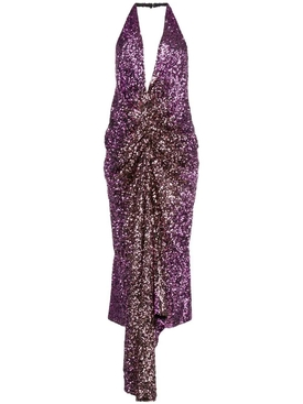 Halpern - Purple Sequined Dress - Women