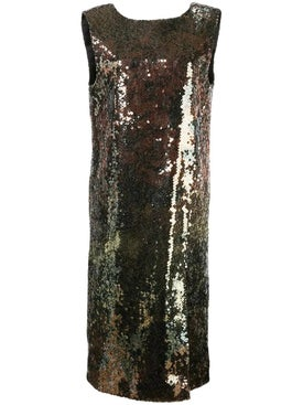 Halpern - Sequin Embroidered Shift Dress - Mid-length