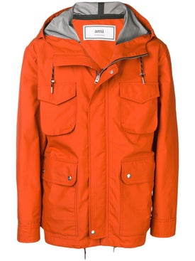 Ami Alexandre Mattiussi - Hooded Pocket Jacket Orange - Men