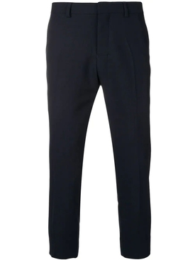 Cropped Fit Trousers NAVY