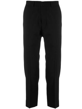 Cropped Fit Trousers BLACK