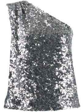 Halpern - One-shoulder Sequin Top - Women
