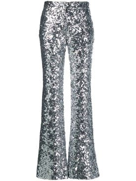 Halpern - Silver Sequin Trousers - Women