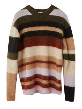 Acne Studios - Kalbah Knit Sweater Olive/red - Women