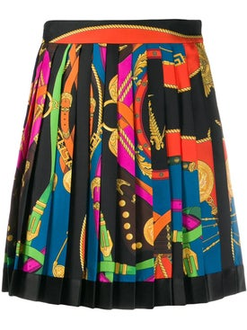 Versace - Multicolored Pleated Mini Skirt - Women