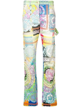 Technicolor Baroque print jeans MULTICOLOR