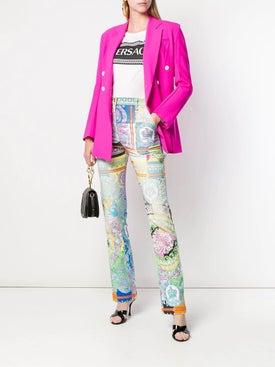 Versace - Technicolor Baroque Print Jeans - Women