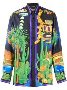 Versace - Multicolored Silk Shirt - Men