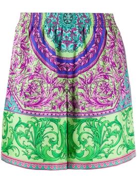 Silk multicolored shorts