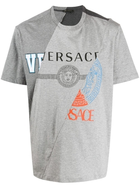 Grey distorted logo t-shirt