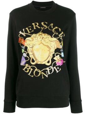 Versace - Multicolored Medusa Print Sweatshirt - Women