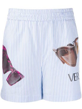 Versace - Striped Sunglasses Print Shorts - Men