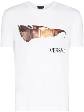 Sunglasses logo print t-shirt OPTICAL WHITE