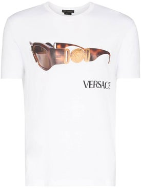 Versace - Sunglasses Logo Print T-shirt Optical White - Men