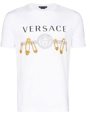Versace - Safety Pin Logo Print T-shirt - Men