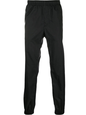 Black logo tape track pants
