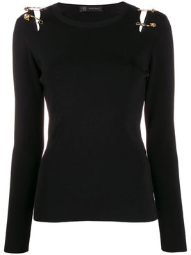 Versace - Safety Pin Cut-out Top - Women
